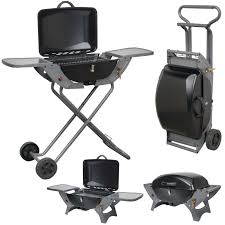 Outdoor Kitchen Equipment Uk Combo Portable Gas Barbecue With Folding Trolley Camping Bbqs