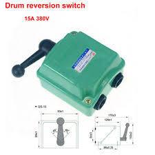 forward reverse switch 15a 380v drum switch forward off reverse motor control rain proof reversing new