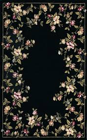 black fl area rug with pink and green fl border pink black and white area rug