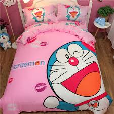 blue bedroom sets for girls. Cartoon Doraemon Pink Blue Bedding Sets Cute Cotton Good Quality Luxury  Duvet Cover Girls Twin Bedroom For
