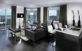 Black Wooden Flooring Brings the Contemporary Stylish Look  Black wooden flooring  ideas for small apartment