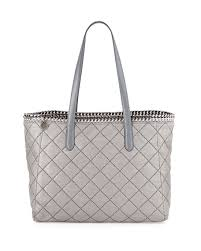 Stella McCartney Falabella East-West Quilted Tote Bag, Light Gray ... & Falabella East-West Quilted Tote Bag, Light Gray Adamdwight.com