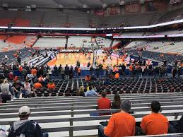Carrier Dome Basketball Seating Chart Rows Carrier Dome Section 114 Syracuse Basketball