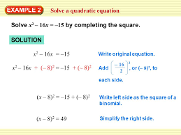 8 solve a quadratic equation