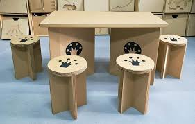 how to make cardboard furniture. Uniqueness Of Imagination In Cardboard Furniture : Chairs And Table How To Make