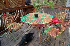 painted metal patio furniture. Painted Outside Furniture Use Metal Patio To Get Instant  New Look With
