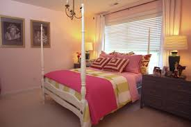 Simple Girls Bedroom Simple Girls Bedroom Design With White Satin Grommet Top F Curtain