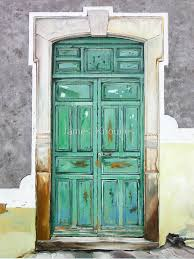 puerta verde oil painting of an old mexican door by james knowles