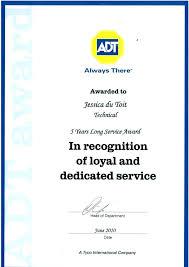 Years Of Service Award Wording Years Of Service Award Certificate 5 Memorable Awards Ooojo Co