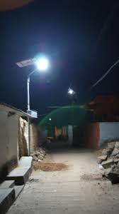 Street Lights In Villages Thrive Solar Led Street Lights Light Up Malkapur Village In