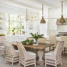 wicker kitchen table and chairs reclaimed wood dining table with wicker dining chairs