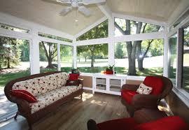 Furniture Sun Room With Rattan Sofa Fraem Using Cream Seat With