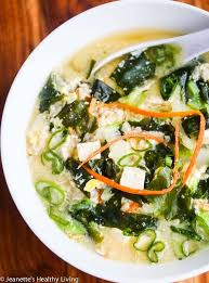 miso soup with tofu wakame seaweed rice and egg this is a anese