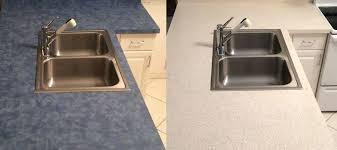 kitchen countertop resurfacing blue laminate refinished in faux stone a kitchen resurfacing kitchen countertop refinishing kits