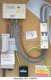 electricity meter digital stock photos electricity meter digital domestic digital electricity meter installation closeup stock image