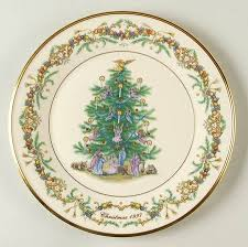 Lenox Christmas Trees Around The World Plates  Christmas Lights Lenox Christmas Tree Plates