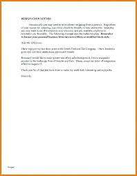 Short Personal Letter Threestrands Co Of Resignation Lexusdarkride