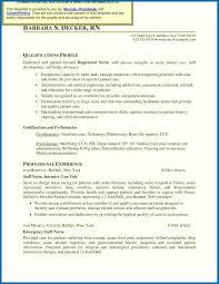 Critical Care Nursing Resume Icu Nurse Resume Inspirational