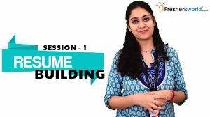 Resume Building For Freshers - Part 1 | Sample Resume Format ...