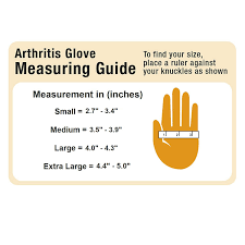 Copper Fit Gloves Size Chart Compression Gloves