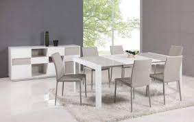 Italian Glass Dining Table Clean Lines Extendable Lacquer Table Top In Glass White And Grey