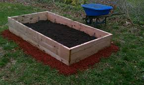 Small Picture DIY Backyard Vegetable Garden Raised Bed Wooden Box With Soil Mix