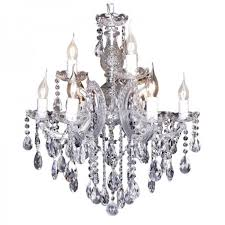 victorian crystal chandelier 9 light zurich in chrome