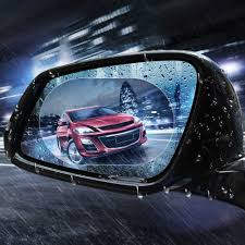 <b>2Pieces</b> Rainproof <b>Car Rearview</b> Mirror Film Sticker Anti fog ...