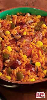 easy to make spanish rice with southern hospitality and hillshire farm smoked sausage find the full recipe here