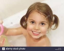 Sweet blonde woman in the bathroom