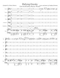defying gravity sheet music defying gravity sheet music for violin viola cello contrabass