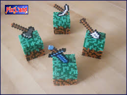minecraft perler box déco minecraft on hama beads midi