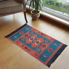 modern bohemian style small area rug 2 x 3 feet washable natural dye colors twosided reversable
