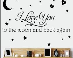 love you to the moon and back quotes wall decal on love you to the moon and back wall art uk with love you to the moon and back quotes wall decal love vinyl art stickers