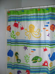 Bathroom Fish Decor Under The Sea Life Theme Shower Curtain For Kids Bathroomunder The