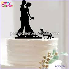 Dengan Siluet Anjing Wedding Cake Topper Wedding Cake Topper Bride