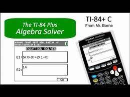 algebra solver on the ti 84 plus