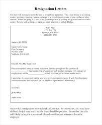 Letter Of Resignation Sample Letter Or Resignation Slipcc Co