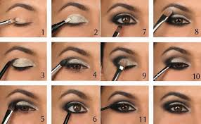 tutorial step by step step by step black smokey eye makeup eyeshadow tips in urdu