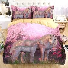 unicorn full size bedding whole unicorn bedding set print duvet cover set twin queen king beautiful pattern real effect lifelike bedclothes bedding
