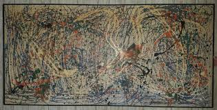 jackson pollock abstract large oil on canvas signed and dated 1951
