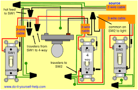 4 way switch wiring diagrams do it yourself help com 2 Light Switch Wiring Diagram diagram 4 way wiring, light center wiring diagram 2 way light switch