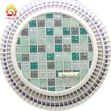 pool interior decoration square colorful glass mosaic tiles