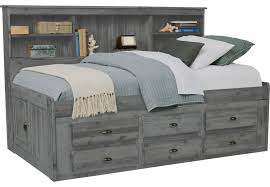 Portside Gray 3 Pc Twin Daybed with Storage - Daybeds Colors