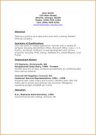 Sample Resume For Data Entry Clerk Sample Data Entry Resumes