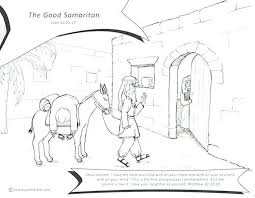 The Good Samaritan Bible Story Coloring Pages Top Rated Good