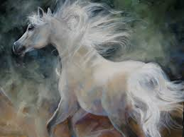 large white horse painting arab horse painting wallpaper the free white design 1024x768