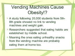 Vending Machines And Obesity New Stockton High School Needs Why Many Kids Get Hungry Between