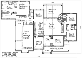 Country Home Design S L   Texas House Plans   Over Proven    First Floor