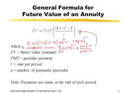 Periodic Payment Formula Chapter 3 Mathematics Of Finance Section 3 Future Value Of An